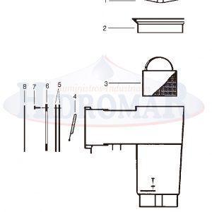 Recambio Skimmer Hayward Sp1082 - Sp1084 - Sp1085